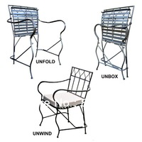 Iron Chair,Metal Chair ,Patio Foldable Chair, Made of Wrought  Iron FL-0017