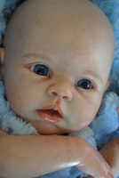 "Reborn Baby doll kit  Silicone Vinyl head ,3/4 arms and legs for 18-22"" baby dolls lifelike doll Accessories"