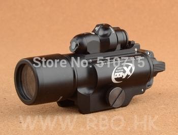 2014 flashlight for guns tactical laser light picatinny shooting surefire x400 flashlight+laser free shipping m7155