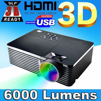 6000ANSI 15000:1 High Brightness data show 3D Movie HDMI USB RJ45 Education Advertising Rear Film 1080P HD DLP Beamer Projector