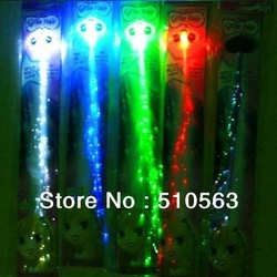 Hot sale Free shipping 15pcs/lot optical fibre red blue green led light braid glow braid flash headwear for concert(China (Mainland))