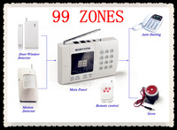 Wireless home alarm system,support 99 zones,digital LCD display,alarm system,alarm machine