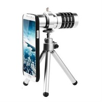1pcs,12x optical zoom telescope camera lens for Samsung GALAXY S4,with tripod / retail box