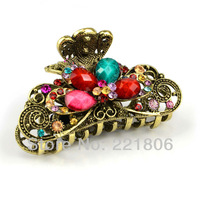 2013 new European clover hairpin retro hair clip noble