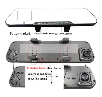 "1080P HD 2.7"" LCD car camera recorder vehicle rearview mirror DVR video dash cam H.264 car blackbox G-sensor"