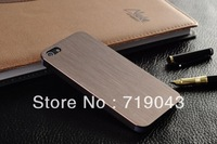 10 pcs/lot 0.3mm Thin Brushed Aluminum case for iphone 4 Hard Luxury, Metal back cover for iphone 4 4S ,free shipping,7 colors