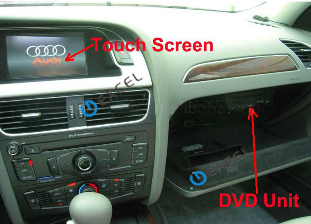 Car DVD GPS for AUDI A4/S4/RS4/A5/Q5 support Steering Wheel Control and Control Knob with GPS BT USB SD IPOD