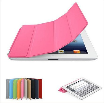 Cheap 8 Colors Magnetic Smart Cover Slim PU Leather Protective Cases Stand for Apple iPad 2 3 4 Wholesale price,free shipping