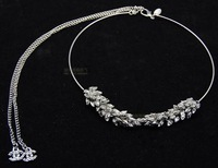 Luxury aesthetic lucky wheat ear necklace formal dress wedding dress necklace 4000