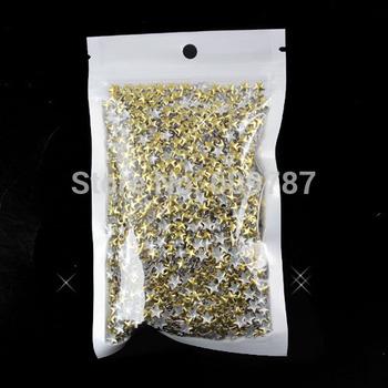Free Shipping 2000pcs/lot Gold Star 3d metal punk nail studs nail decorations