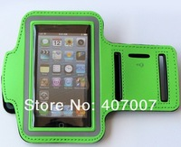 500 pcs/lot,Newest Sport ArmBand leather Case for apple iphone 5 5G , Solf Belt arm band For iphone5