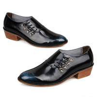 Men's shoes 100% genuine leather top quality fashion dress shoes luxury shoes patent leather oxford shoes