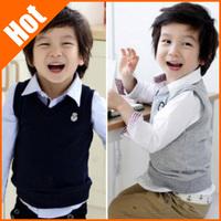 Spring autumn child vest baby boy  fleece vest high quality kids the waistcoat 2013 children clothing age 2-6