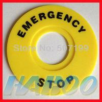 22mm e-stop emergency stop push button switch panel label frame plastic sign, inner diameter 22mm,external diameter 60mm