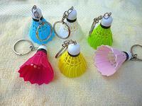 FREE SHIPPING Badminton Key Ring Car Bag Cute Pendant Decoration Wedding Sport Gift Promotion Souvenir 150pc/lot say hi 30405