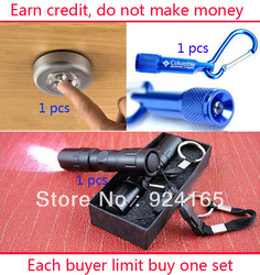 3in1 Three kinds of products packaged for sale bike light Mini LED Torch Portable Waterproof Portable Led Torch tracking number(China (Mainland))
