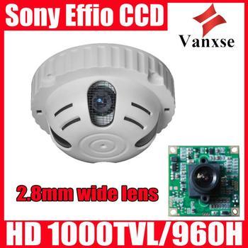 Vanxse CCTV Sony Effio-E CCD 960H/1000TVL Security camera 2.8mm wide lens OSD menu Surveillance Camera