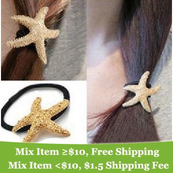 fashion lovely Starfish star hair band hair clip hair Accessories jewelry ! cRYSTAL sHOP(China (Mainland))