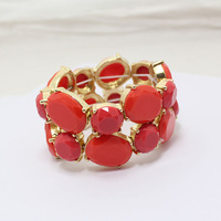 BS009  Fashion fashion red gem bracelet   2013 jewelry TKK-9.99