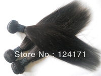 5A unprocessed virgin Indian human hair extension dyeable silky straight natural color 2013 new arrival 4pcs lot