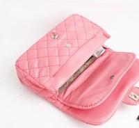 2013 Brand handbag,women's brand bag   faux flip lock bag 2.55 one shoulder cross-body plaid chain women's handbag bag