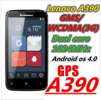 100% Original Lenovo A390 phone MTK6577 Dual Core 1GHz RAM 512MB ROM 4GB 4.0inch screen Android 4.0 3G Smartphone Free shipping