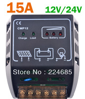 15A Solar battery charge controller 12V 24V Regulator Solar controller 150W 350W PWM