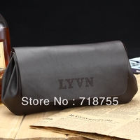 Free shipping New brand genuine men's leather Clutch Wallet Retro fashion boutique business bags Clearance Price Black, brown