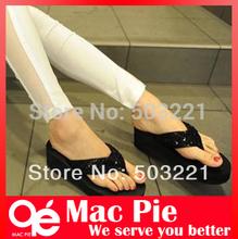 2013 lady's sequins sandal women Beach home flip flops slippers flat sandals(China (Mainland))