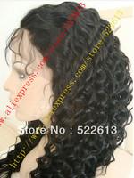 Fashion full lace wig FREE SHIPPING Wholesale brazilian virgin 8-24inch deep wave human hair full lace wig