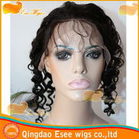esee wigs100% human hair short curly wig for black women indian cheap black curly wig tight curly full lace wigs 120% density