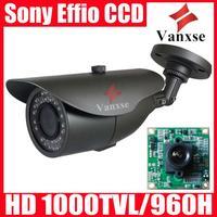 Vanxse Sony Effio-E 960H/1000TVL 36IR Security camera CCTV OSD camera W/Bracket 3.6mm surveillance outdoor camera