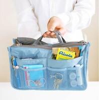 waterproof nylon double chain thicker sponge makeup bag storage bag solid Cosmetic case bag in bag