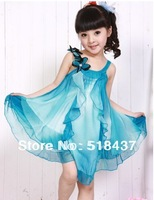 hot selling  child summer dress for girls chiffon dresses female child kids summer dress princess tulle dress