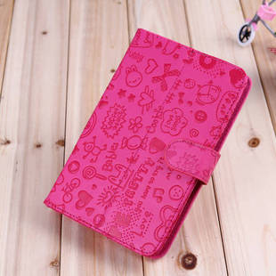Cute Magic Girl Lopez, The Little Witch Flip Holster Leather Cover Case for Nexus 7,  7 Inch Ainol,Icoo,Kindle,Onda Tablet PC