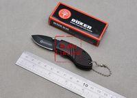BOKER - DA29 Mini Camping Pocket Knife Utility Knife 56HRC 440C Wood Handle Best Gift