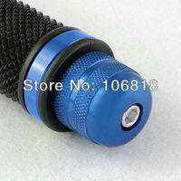 "Blue Aluminum Bar End Plug Weight Protector Slider for Motorcycle 7/8"" Handlebar Sport Bicycle BMX Dirt Mountain Bike MTB Custom"