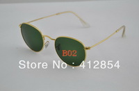 Mens Womens Sunglasses Sun Glasses 3447 Men and women Designer  Brand Round Metal Eyewear  Green Lens  With Case