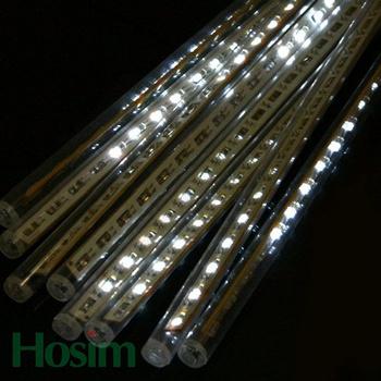 Free shipping, 10pcs/set 44 leds 30CM length, christmas lighting, LED Snow fall tube snowingled meteor light  led raining tube