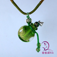 Murano Glass Perfume Necklaces (with cord)  Perfume Bottle Pendant Essential Oil Vial Pendants