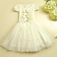 wholesale--5pcs/lot  Hot sale !summer Boutique girls sweet princess dress baby girls party dress 5pcs/lot
