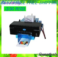Free shipping TWO-SIDED AUTOMATIC High speed waterproof Inkjet CD/DVD Printer free 30pcs Disk Tray
