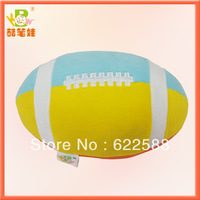 2013 Wholesale baby toys 0-12months Plush rugby baby rattle toy plush stuffed baby toy football toy FREE SHIPPING