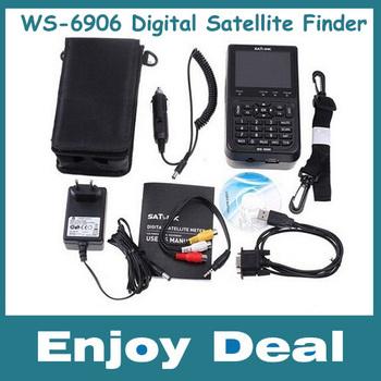free shipping WS-6906 DVB-S FTA Digital TV SignSatellite Finder Meter al Receiver For setting,WS6906