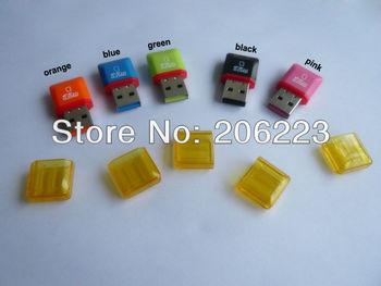 Free shipping! USB 2.0 micro sd card reader,TF card reader,mini sd card adapter