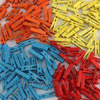 Wholesale DIY  100pcs Wooden Clothespin Clip Scrap booking Craft 111646-111649