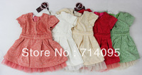 2013 children's clothing female angle child Girl 2-11y summer stripe one-piece dress princess 5 color dress freeshipping
