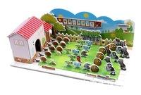 Free shipping ZILIPOO 3D Puzzle Model Toy/Plants vs Zombies, Children's Safe Non-toxic Foam+Paper Model DIY Jigsaw 369