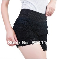 Lady Beautifull Tiered Lace Shorts Legging Pant