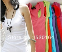 2013 hot summer  fashion all- match multi colors  womend's sexy avtive casual tank tops
